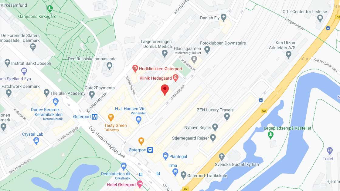 Østbanegade 7, københavn på Google maps